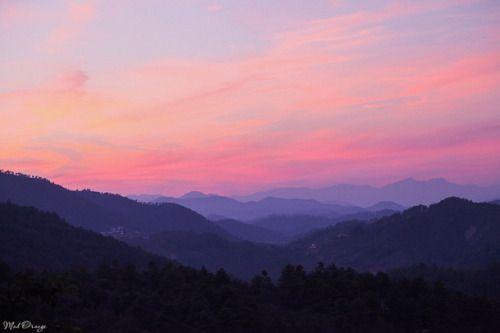 Beautiful Mountain Sunset Sunset Painting Mountain Sunset