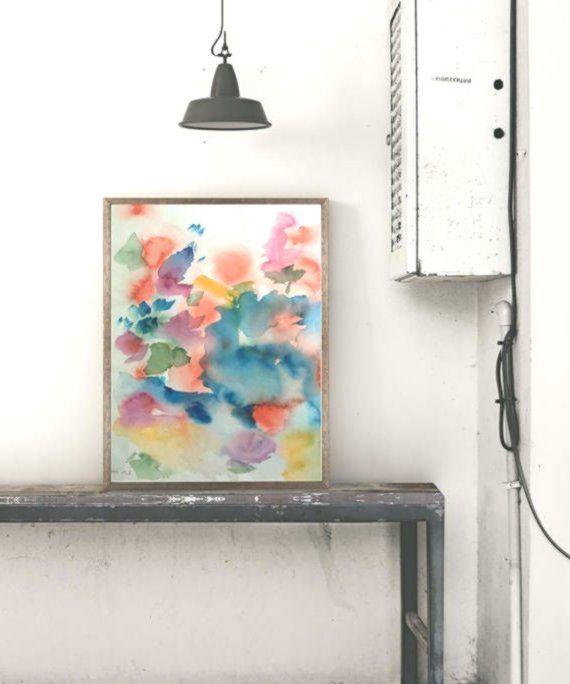 Pittura ad acquerello acquerello originale Immagine arte ...