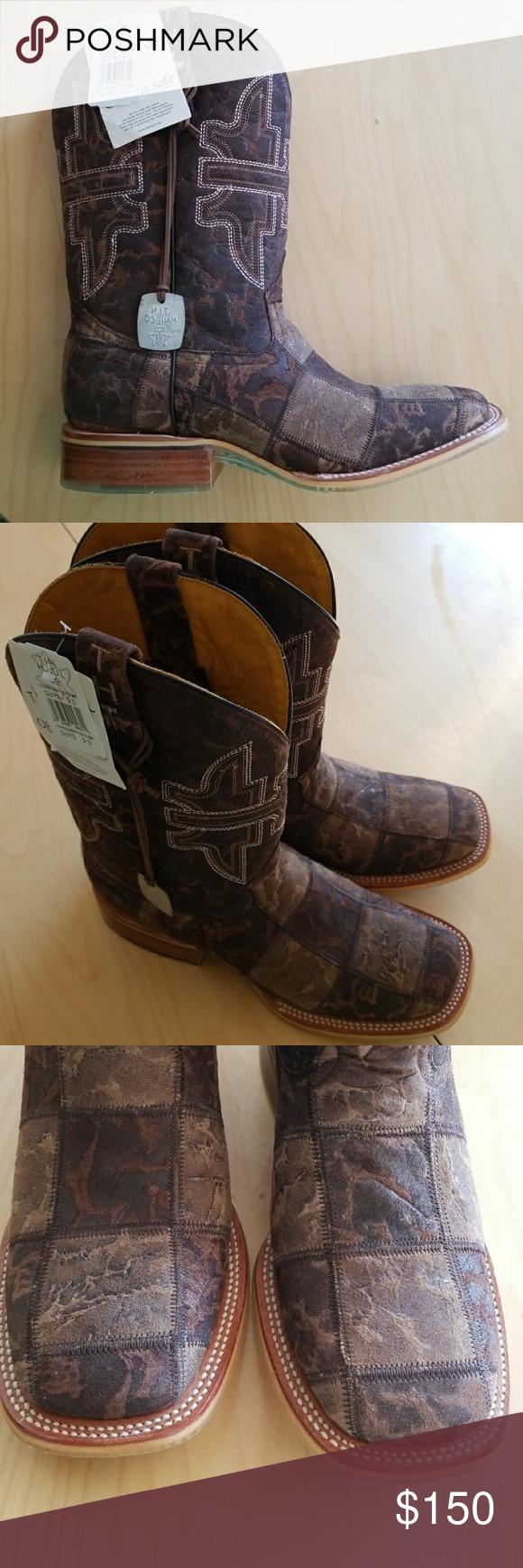 07d11525b64 MENS Cowboy Boots Tin Haul Co. Million dollar check cowboy boots ...