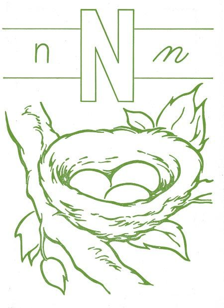 n is for nest... embroidery pattern