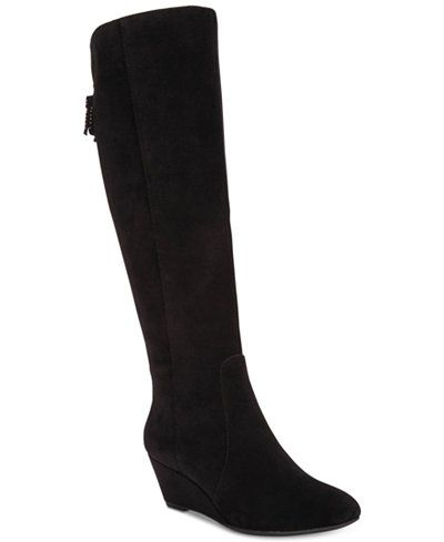 8120ce9580ba Anne Klein Azriel Tall Wedge Boots