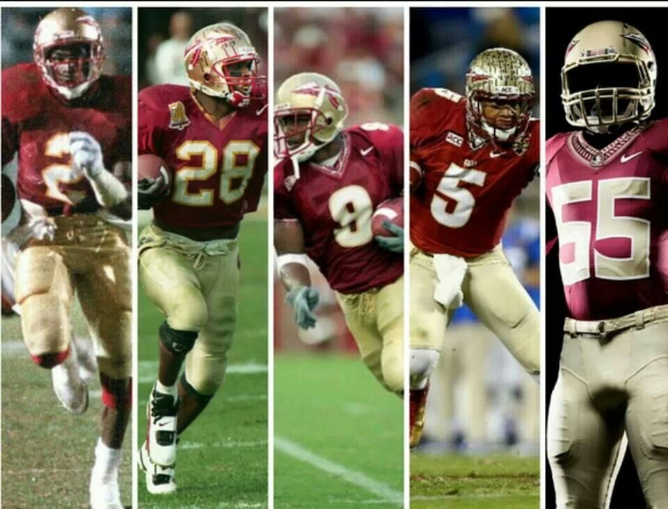 The Evolution Of The Fsu Uniform Florida State Seminoles Football Florida State Football Fsu Football