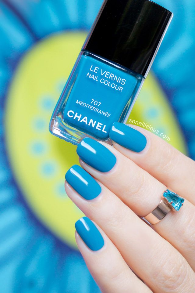 Chanel Mediterranee. Review: http://sonailicious.com/chanel-mediterranee-review-swatches/