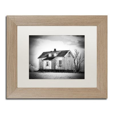 "Trademark Art ""Feels Like Home"" by Philippe Sainte-Laudy Matted Framed Photographic Print Size: 16"" H x 20"" W x 0.5"" D, Frame Color: Birch"