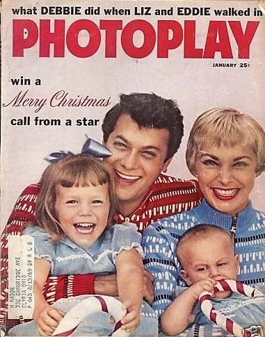 Tony Curtis, Janet Leigh, Jamie Lee Curtis And their son.