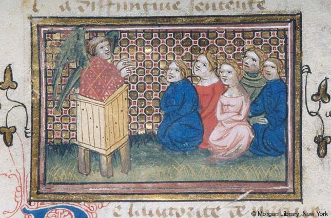 Roman de la Rose, MS G.32 fol. 129v - Images from Medieval and Renaissance Manuscripts - The Morgan Library & Museum