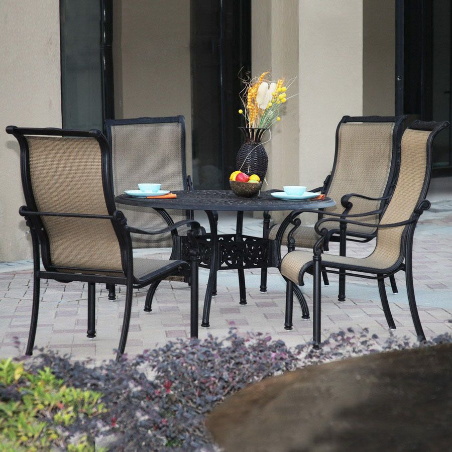 Darlee 5-piece Sling-seat Aluminum Patio Dining Set