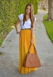 I can't wear yellow shirts, maybe I could wear yellow skirts
