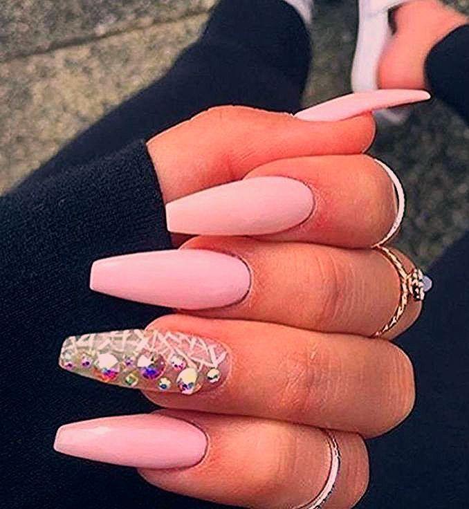 Photo of Coffin Nails Plain Nails