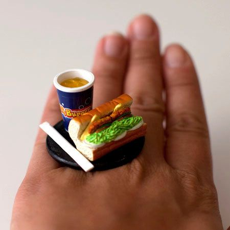 Finger Food Fashion Rings