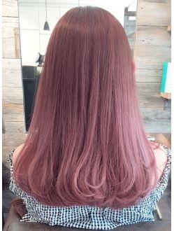 ピンクアッシュ グラデーション ハイライト ヘアカラー ピンクアッシュ 髪色 ハイライト