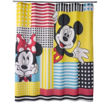 Disney S Mickey Minnie Mouse Fabric Shower Curtain By Jumping