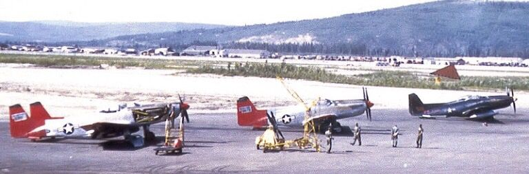 North American F-82G Twin Mustangs stationed in Alaska  1952 | F-82