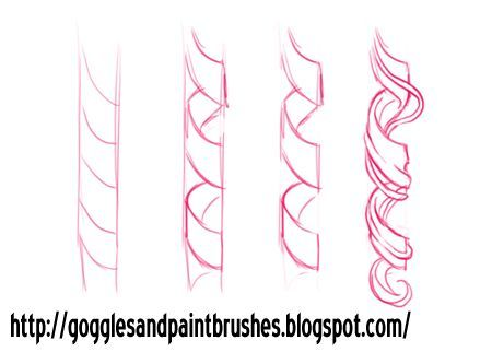 draw ringlets - google