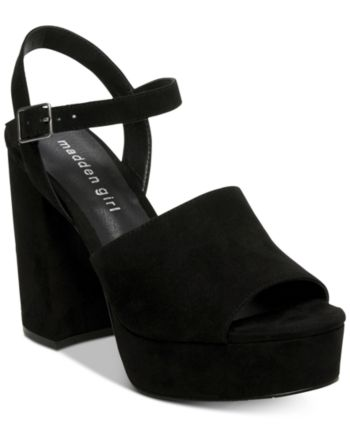 e52ddc7c42a Madden Girl Garden Platform Sandals - Black 5M