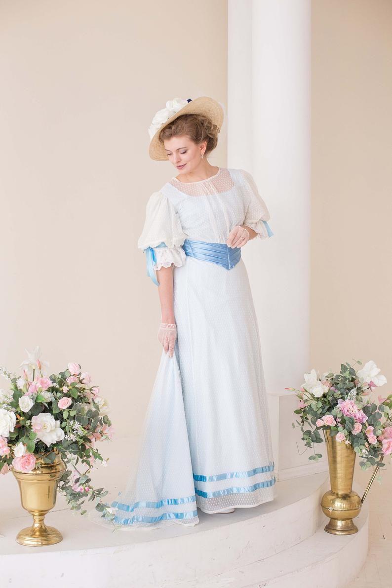 1900s Edwardian Dresses 1910s Dresses Edwardian Dress Edwardian Fashion Dresses White Tea Dresses [ 1191 x 794 Pixel ]