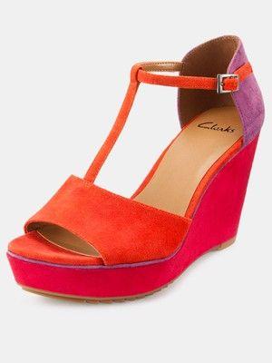 1d1c2905a24 Clarks Scent Flower Wedge Sandals