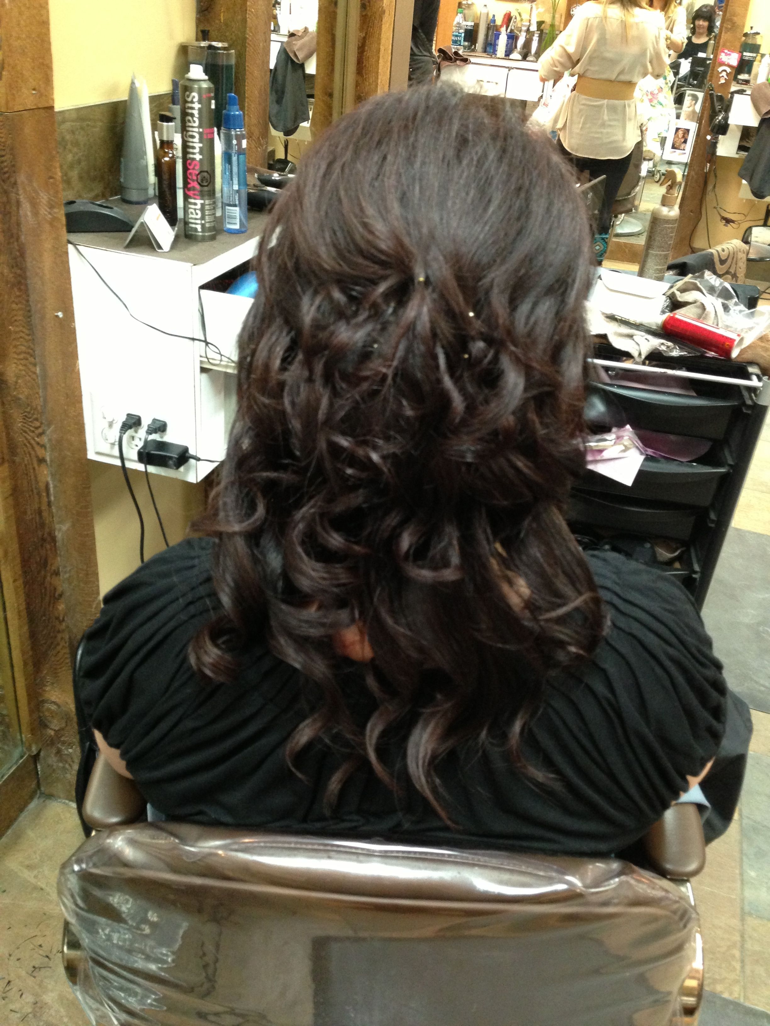 Half Up Half Down Wedding Hair Thanks To Brandon At The Hairstyle Inn For The Beautiful St Hair Styles Wedding Hairstyles Half Up Half Down Wedding Hairstyles