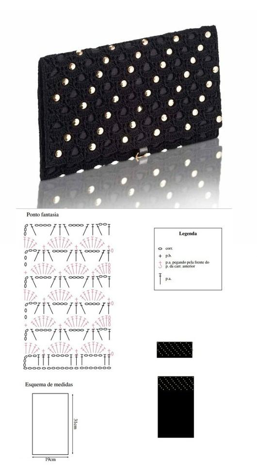 PATRON+CROCHET+BOLSO+DE+NOCHE.png (530×960) | tsvito | Pinterest ...