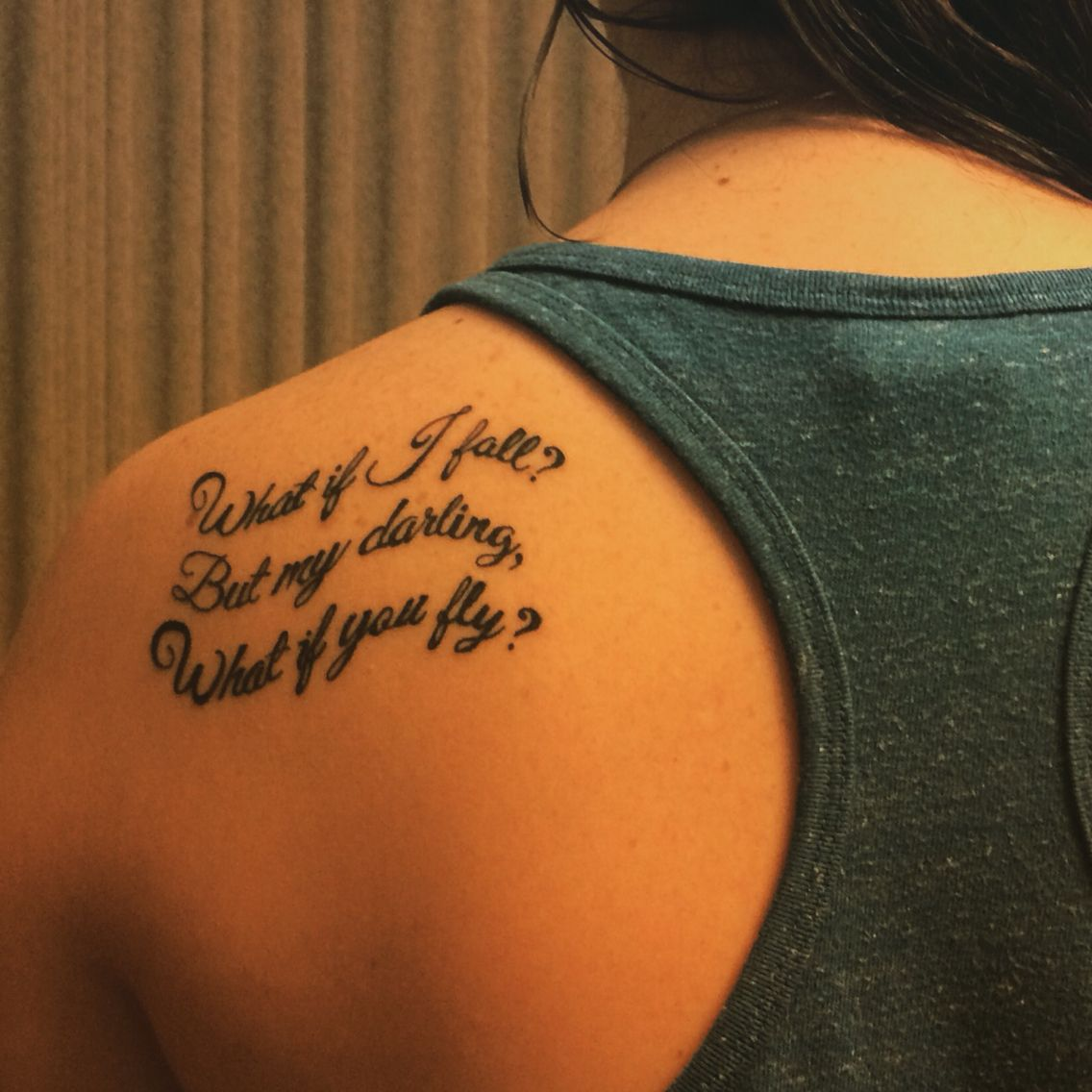 "Tattoo Craving Quotes: ""What If I Fall? But My Darling, What If You Fly?"" #quote"