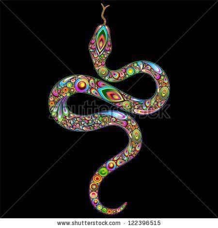 ☆SOLD on #Shutterstock!☆  #Snake #Psychedelic #Art #Design  http://www.shutterstock.com/pic.mhtml?id=122396515
