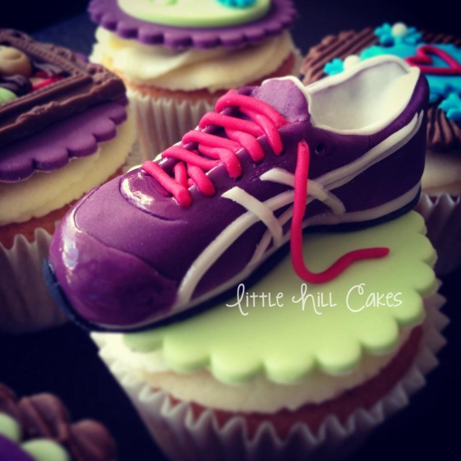 c8f0c8f6a839 Mini Running Shoe Cupcake Topper