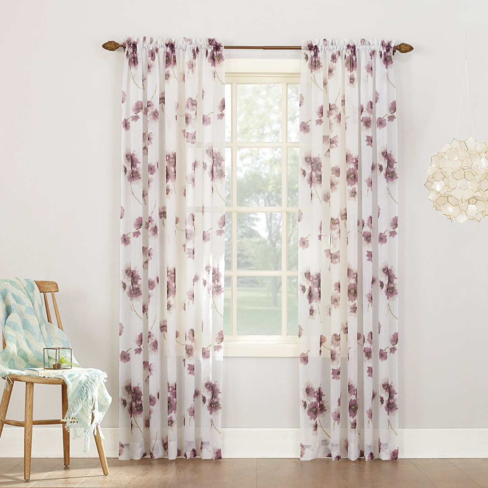 Lavender Sheer Curtains No 918 Kiki Voile Rod Pocket Curtain Panel In 2019 Products