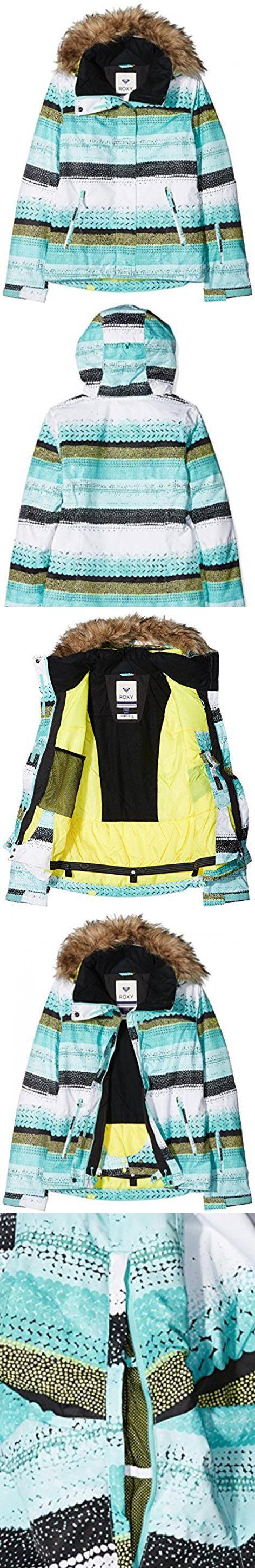 Roxy Jet Ski Snow Jacket Aruba Blue Lizzy Dots Medium Apparel Sporting Goods Snow Jacket Jackets Vest Jacket