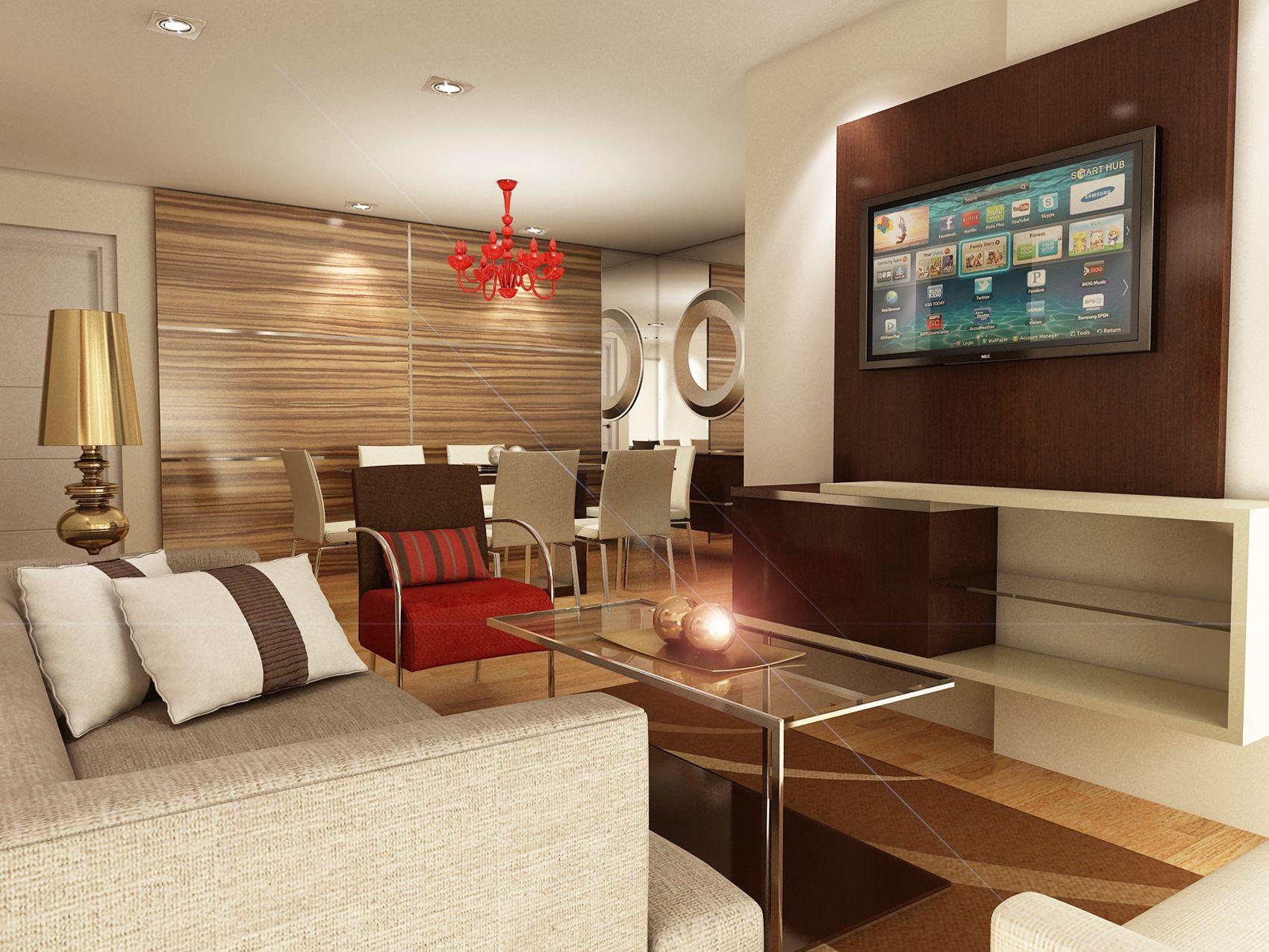 Vista de sala y comedor proyecto ubicado en magdalena for Diseno de interiores lima