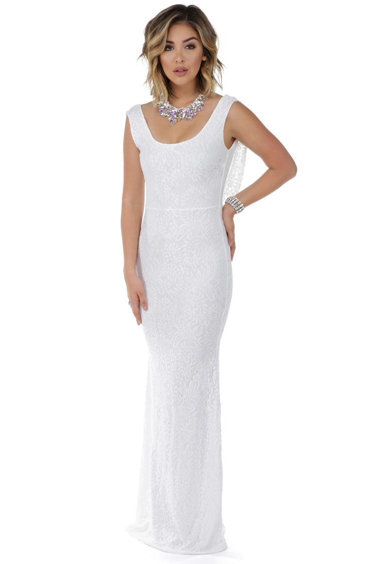 Belle white lace formal dress products
