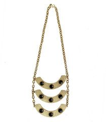 Breastplate Necklace in Black by Candy Shop Vintage