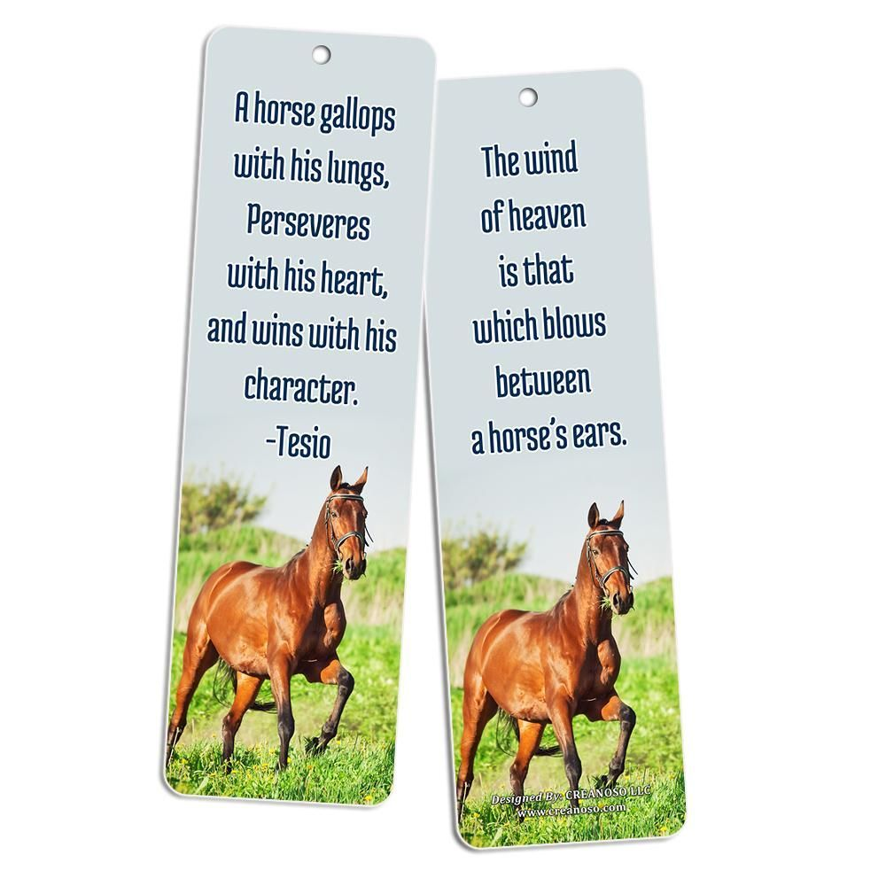 Horse Quotes Bookmarks (60-Pack) - Horse Gifts Ideas for ...