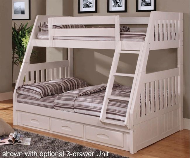 Cambridge White Twin Over Full Bunk Bed All About Kids