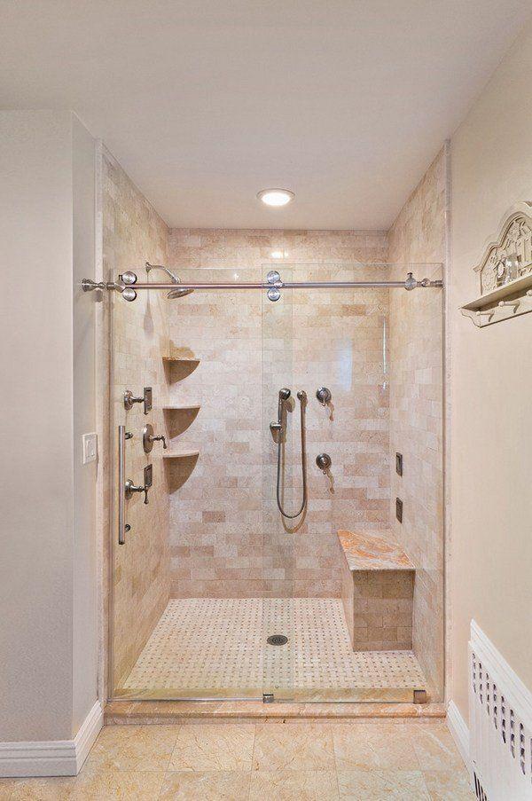 Unique Bathroom Designs Frameless Shower Doors Shower Bench Pastel
