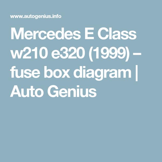 E320 Fuse Box Diagram