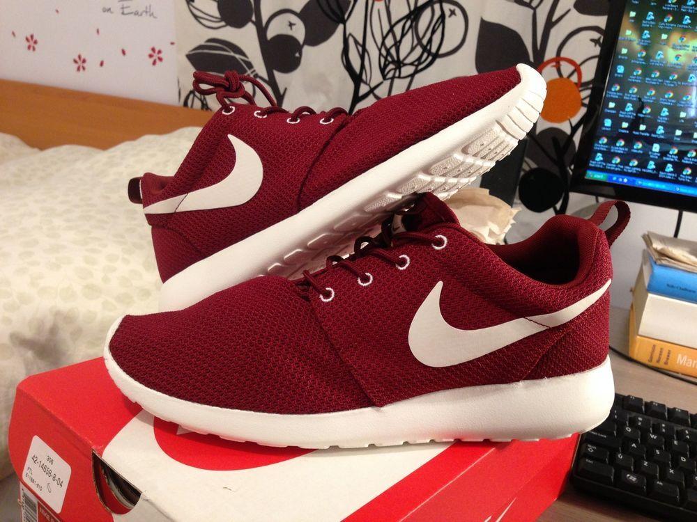 nike roshe run mens casual shoes-team/red/sail