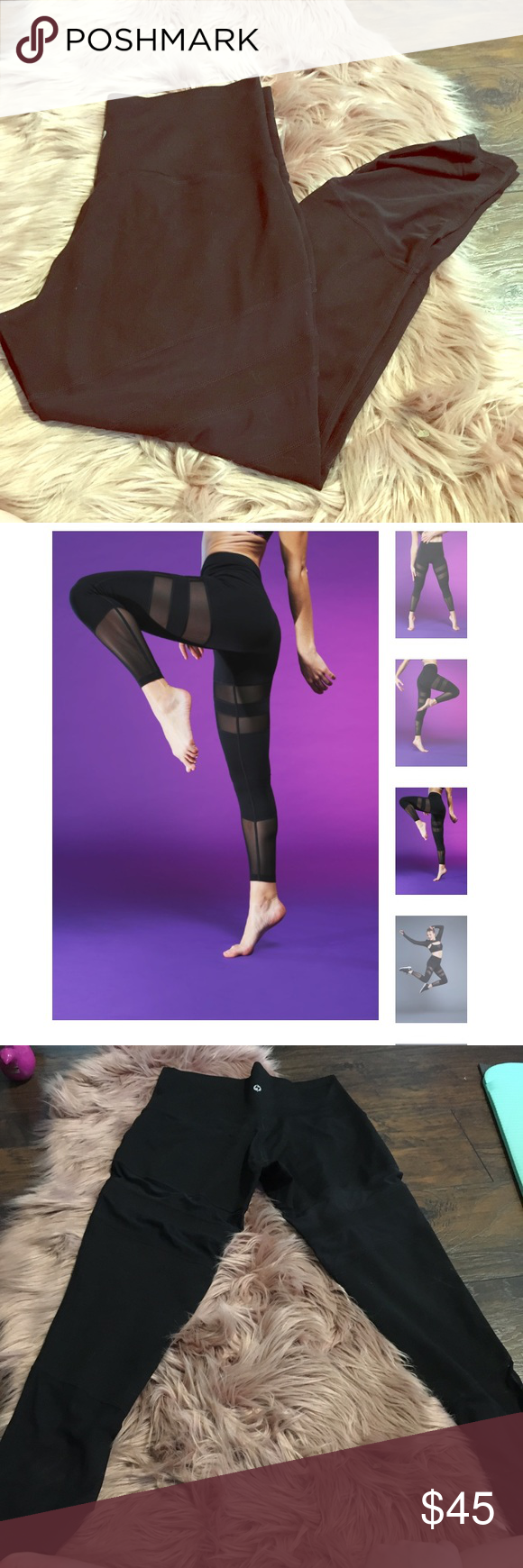 3e36b0ad0454 EEUC 12 pop flex your highness legging in midnight Black color with gorgeous  mesh cutouts