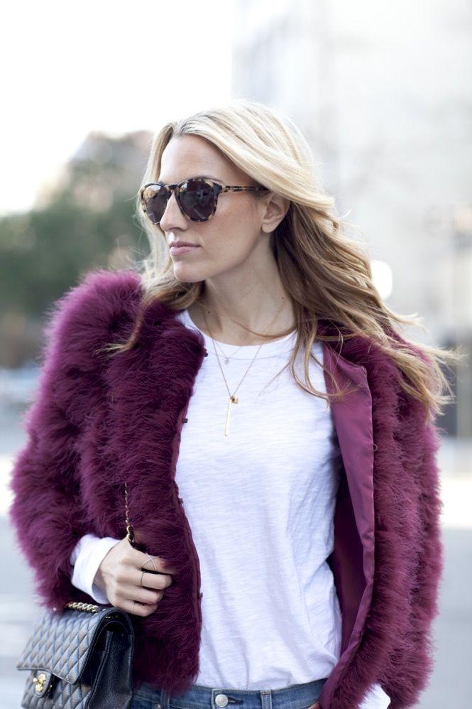 Faux Fur burgundy  - 19