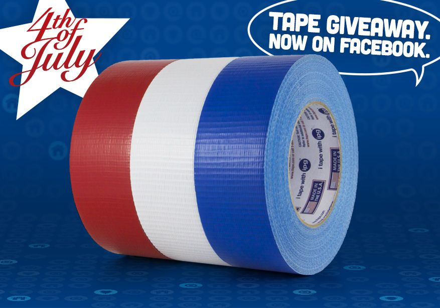 Ipg Is Giving Away Red White And Blue Duct Tape On Facebook Expires July 2 2015 Go Here Http Www Facebook Com Intertape Freebie Ipg Duct Tape Polymer
