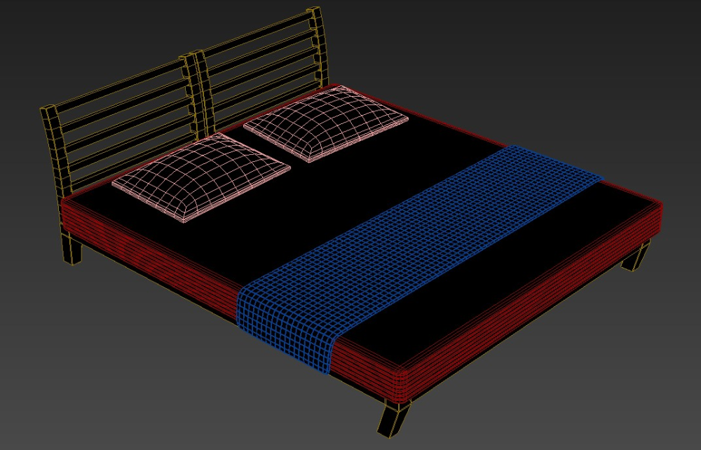 Double Bed 3ds Max Model Free Download Cadbull In 2020 Double Beds 3ds Max Models Bed