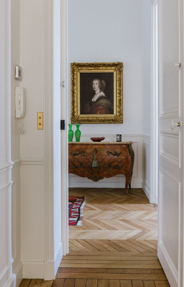 Hallway With Painting Lille 5 75007 Paris Apartment For Designed By A B Kasha Abkasha Abdesigned Ablille