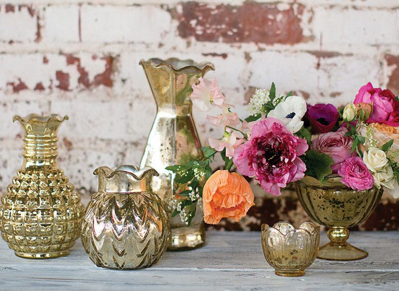 Gold Mercury Glass Vase Gold Mercury Glass Mercury Glass Vase Mercury Glass Candle Holders