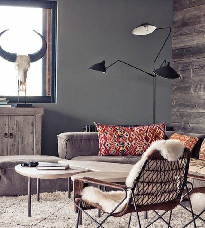 awesome dco salon deco salon moderne ambiance rustique chic pour couleur peinture salon