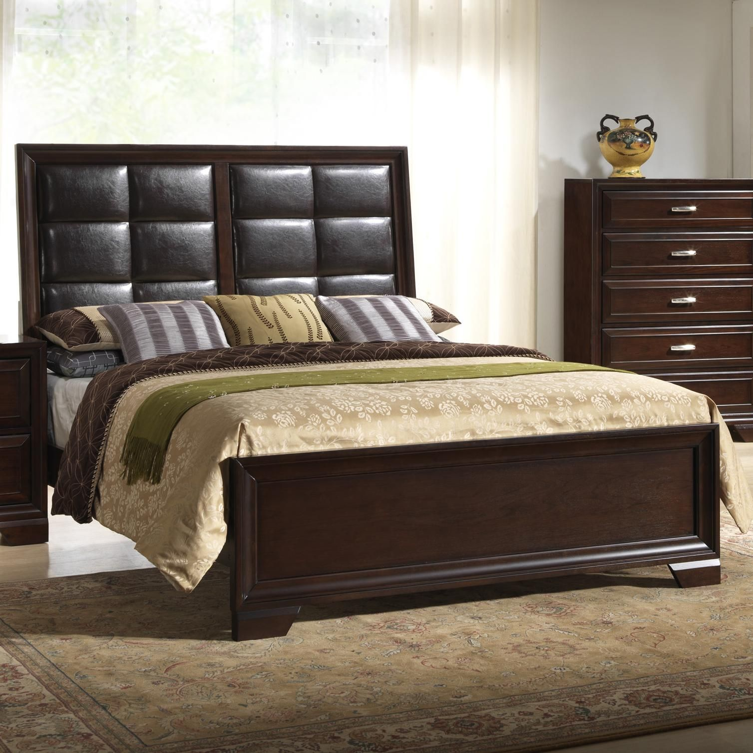 B6510 Queen Upholstered Bed by Crown Mark Queen