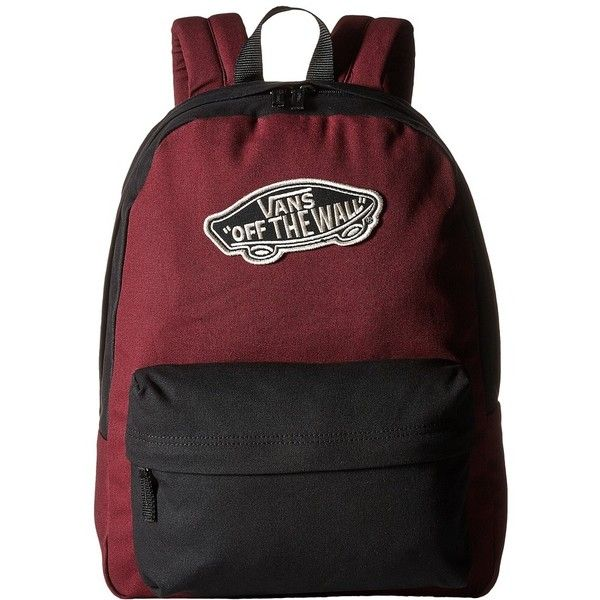 badf9619fa7 Vans Realm Backpack (Black/Port Royale) Backpack Bags ($35) ❤ liked on  Polyvore featuring bags, backpacks, vans bag, handle bag, rucksack bag,  knapsack bag ...