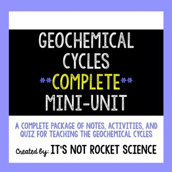 Geochemical Cycles A Complete Activity Based Mini Unit With