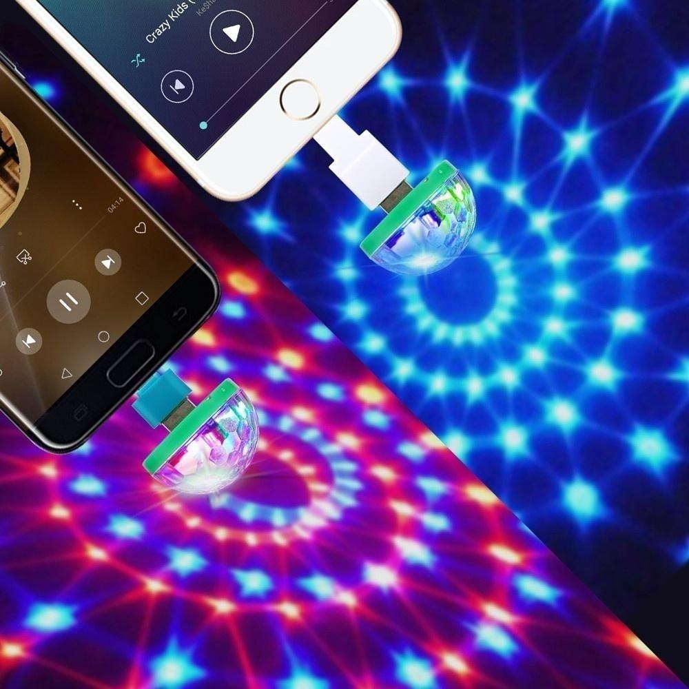 2018 New Mini Disco Light Portable Home Party Light Dc 5v Disco Ball Led Phone Usb Lights Disco Lights Party Lights Disco Ball Light