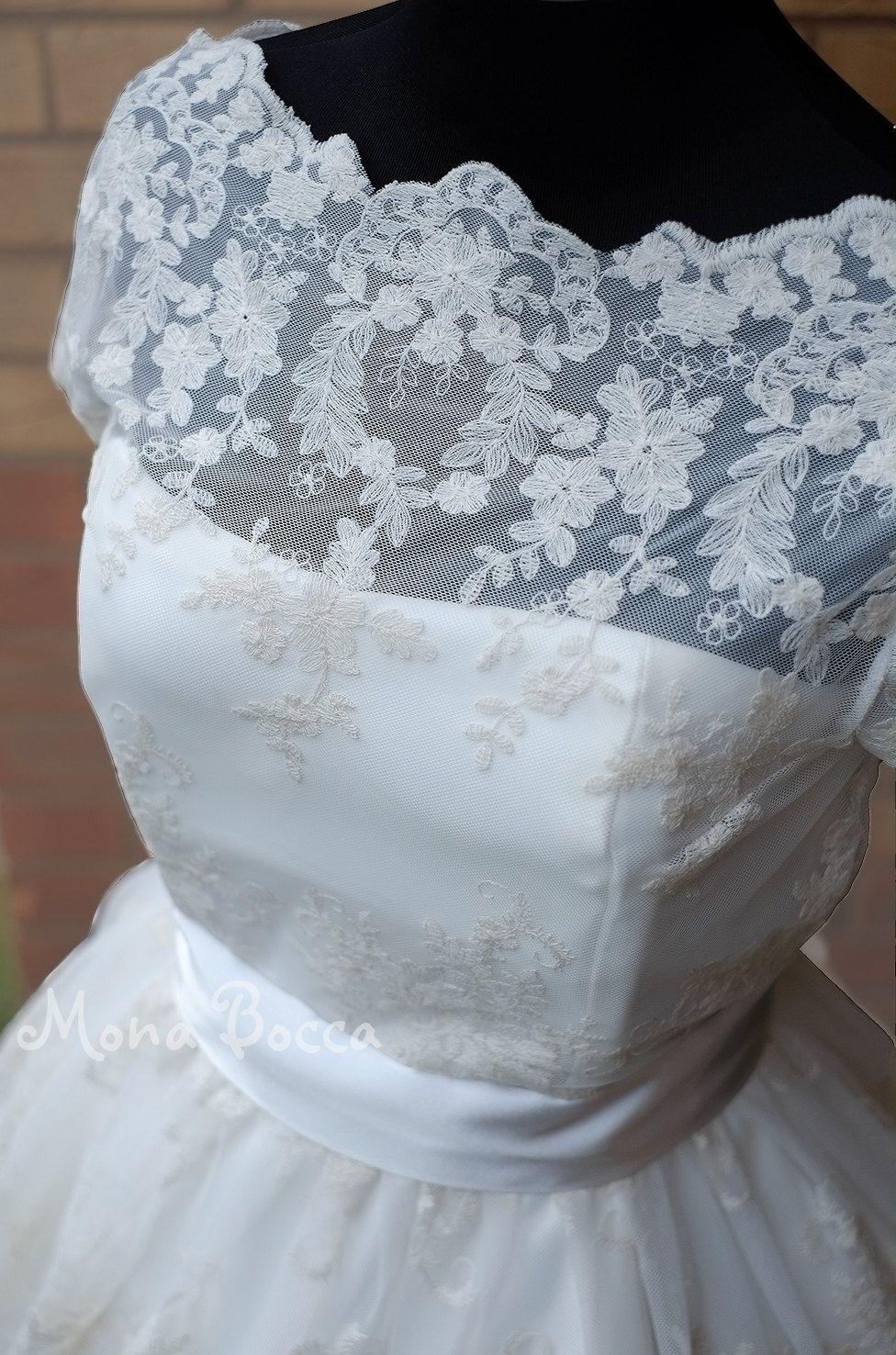 Plus size summer wedding dresses  us wedding dress with Edwardian lace Hepburn style plus size Made