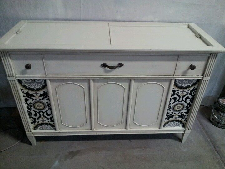 Refinished Record Player Console Redo Cabinets Refinishing