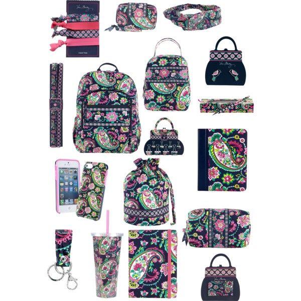 Vera bradley school supplies by barrelqueen567 on Polyvore featuring Vera  Bradley 718ad8f0af866